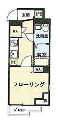 ライジングプレイス桜木町[7階]の間取り