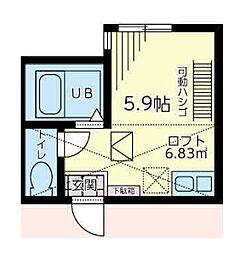 G・Aタウン石川町[2階]の間取り