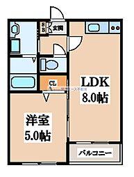 大阪府大阪市生野区小路東2丁目の賃貸アパートの間取り