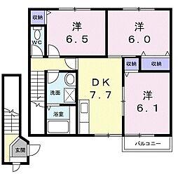 キャピタル リッチ A棟[2階]の間取り
