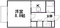 αNEXT新潟第7[2階]の間取り