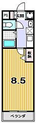 ハウゼ衣笠の杜[3階]の間取り