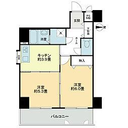 「ライオンズマンション西陣南」[3階]の間取り