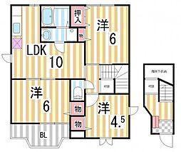 シャンドフル−ルⅡ[2階]の間取り