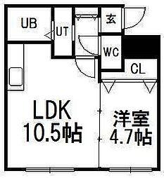 北海道札幌市豊平区豊平三条3丁目の賃貸マンションの間取り