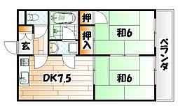 エメラルドマンション砂津[3階]の間取り