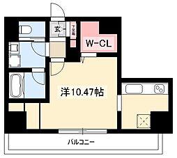 K Smart Kanayama 3階ワンルームの間取り