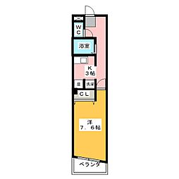 クレスト岩塚[2階]の間取り