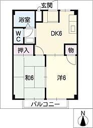 宮の倉おおやま[2階]の間取り