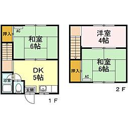 田島連棟借家[2号室]の間取り