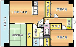 アビタシオンOKI(アビタシオンオキ)[8階]の間取り