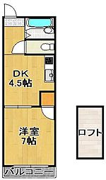 富士見ⅡA[2階]の間取り