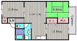 アットハウスMATASUTANI II[2階]の間取り