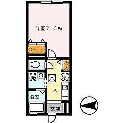 グレイスSASAKI[102号室]の間取り
