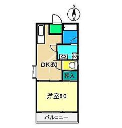 福井コーポ[3階]の間取り