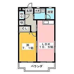 パミドール櫻井[2階]の間取り