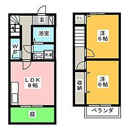 グロリアス平島II[1階]の間取り