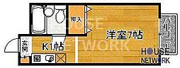 KITANOクレセント[307号室号室]の間取り