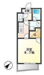 ハーモニー星崎[2階]の間取り
