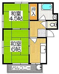 伏見マンション[2階]の間取り