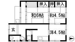 [テラスハウス] 大阪府池田市宇保町 の賃貸【/】の間取り