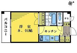 プラッツ中井[3階]の間取り