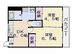 栄田マンション[3006号室]の間取り