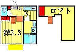 ブレッツァ北松戸[2階]の間取り