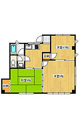飯野コーポ[1階]の間取り