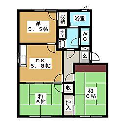フレグランスI[1階]の間取り