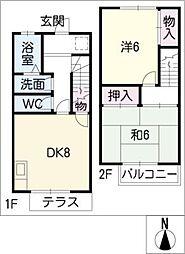 松田コーポ[1階]の間取り