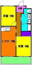 静岡県浜松市中区領家3丁目の賃貸マンションの間取り