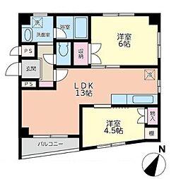 K・U六番館[3階]の間取り