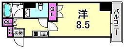 ラ・セーヌ西宮[8階]の間取り