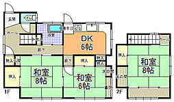 [一戸建] 茨城県水戸市西原1丁目 の賃貸【/】の間取り