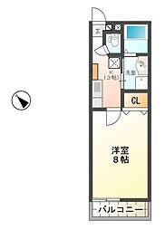 滋賀県東近江市市子殿町の賃貸アパートの間取り