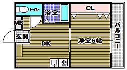 カミニート667[1階]の間取り