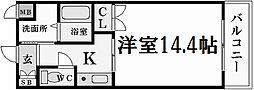 アッシュコート夙川公園[2階]の間取り