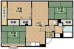 サンコーレジデンスB棟[2階]の間取り