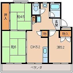 太田団地10159[3階]の間取り