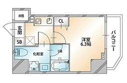 VALORE NISHISUGAMO〜ヴァローレ西巣鴨〜 2階1Kの間取り