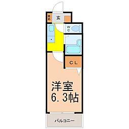 愛知県名古屋市北区田幡2丁目の賃貸マンションの間取り