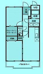 ヒルズ シンシア[2階]の間取り