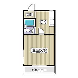 シャトル細 田[203号室]の間取り