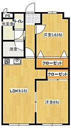 ユニバースマンション[1階]の間取り