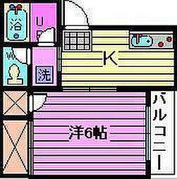 福岡ハイツ(上小町)[1階]の間取り