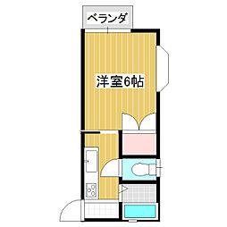 メゾンユーカリ[201号室]の間取り