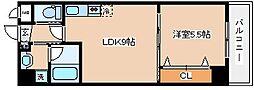 兵庫県神戸市兵庫区小松通2丁目の賃貸マンションの間取り