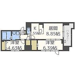 MODENA FINEST[8階]の間取り