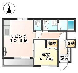 ソフィア[1階]の間取り